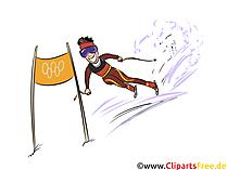 Ski Alpin Illustration - Wintersport Cliparts, Bilder