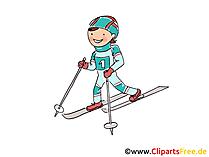 Ski Bild, Sport Cliparts, Comic, Cartoon, Image gratis