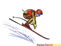 Ski Wintersport Bilder, Clipart