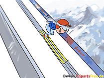 Skispringen Illustration, Bild Sport Winter