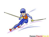 Slalom Illustration - Wintersport Cliparts, Bilder