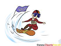 Winter Sportarten Clipart - Snowboard Bild