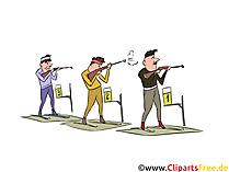 Wintersport Clipart, Bild - Biathlon Schießstand