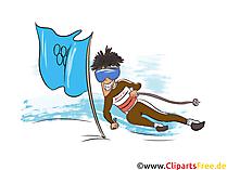 Wintersport Si Alpin Cliparts, Bilder, Grafiken