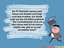 Computer Witz Bild zum Verschicken
