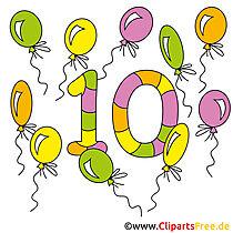 10 - Çocuklu sayıları öğrenin