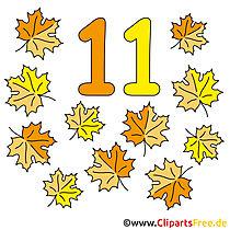11 - Zahlen lernen im Kindergarten Arbeitsblaetter