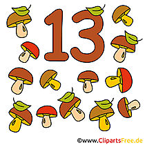13 - nummers cliparts