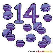 14  - 数字の写真