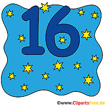 16 - numery Stock Images