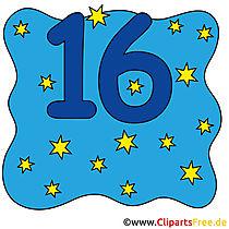 16 - sayılar hazır görüntüler
