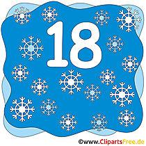 18 - Ziffern Bilder zum Ausdrucken