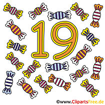 19 - rakam telif ücretsiz görüntüler