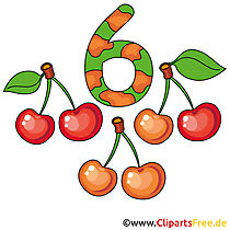 6 - nummers clipart