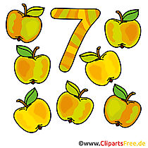 7 - Zahlen lernen mit Spaß